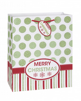 Merry Christmas Dots Large Gift Bag